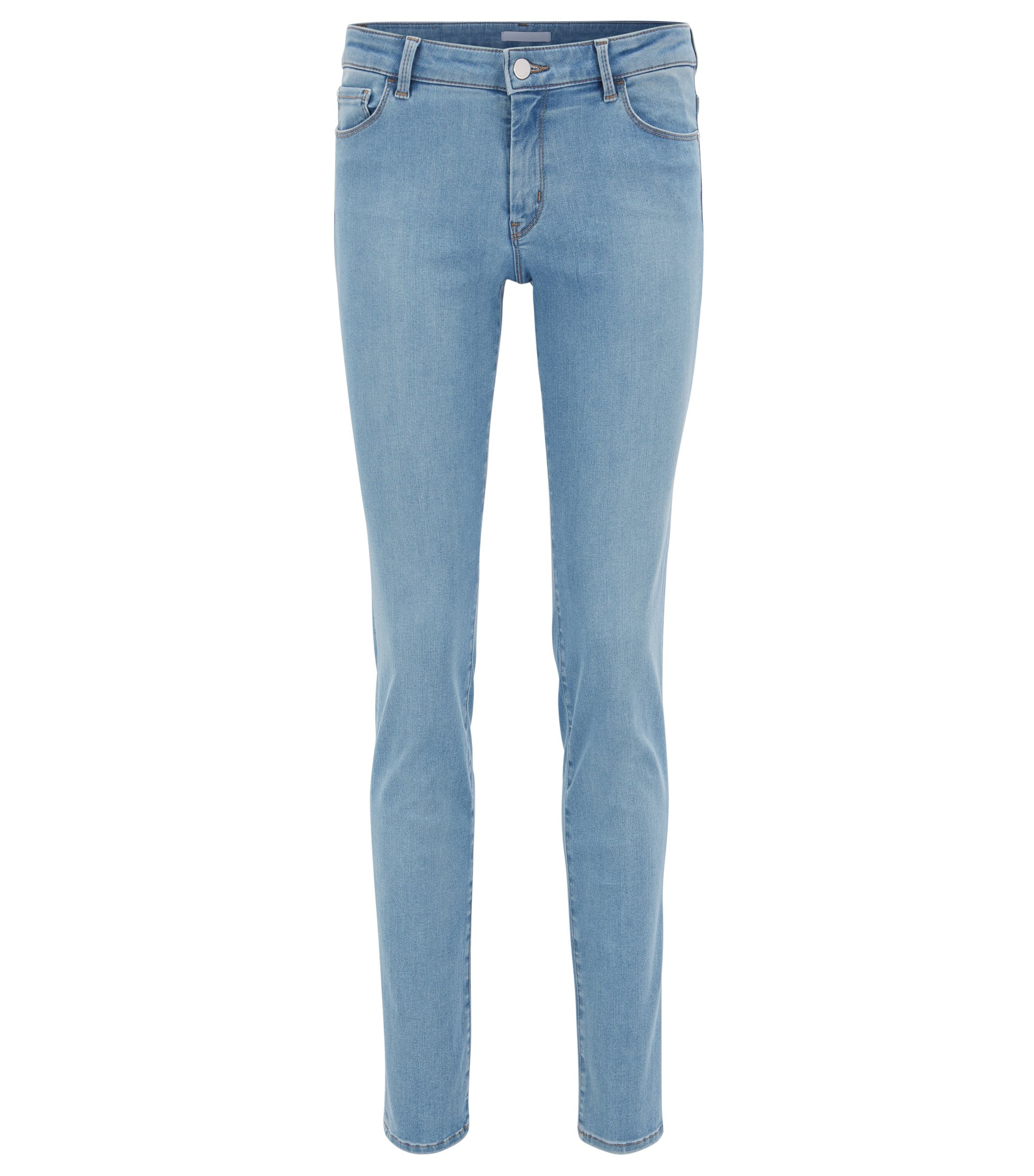 Jeans regular fit super elasticizzati blu acceso, Turchese