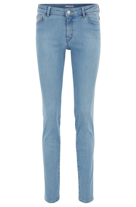 Bright-blue super-stretch jeans in a regular fit BOSS PpYbb2ihb