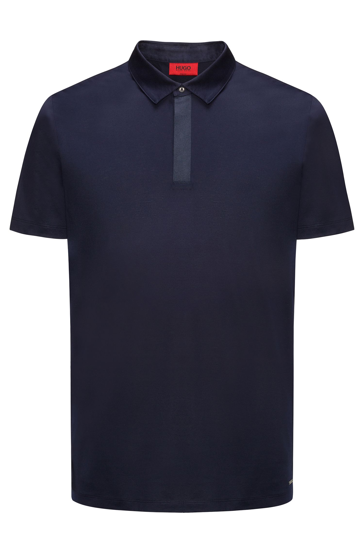 Cotton polo shirt in a slim fit