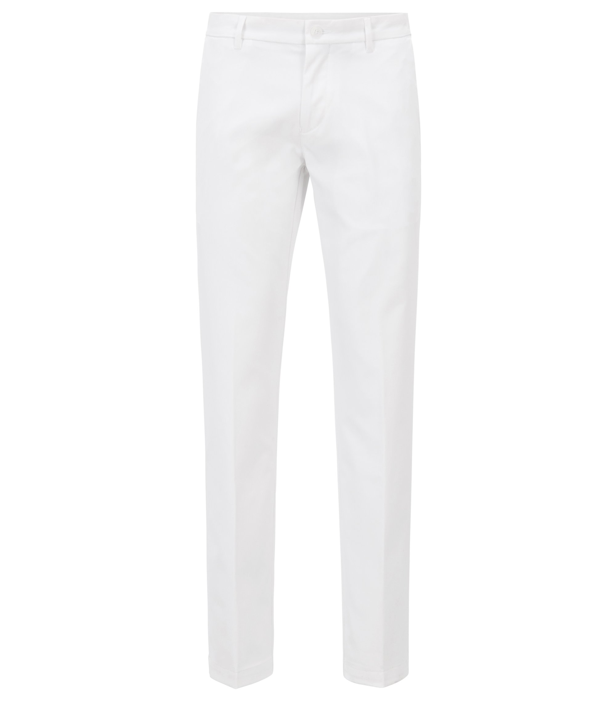 Pantalon Extra Slim Fit en tissu technique, Blanc