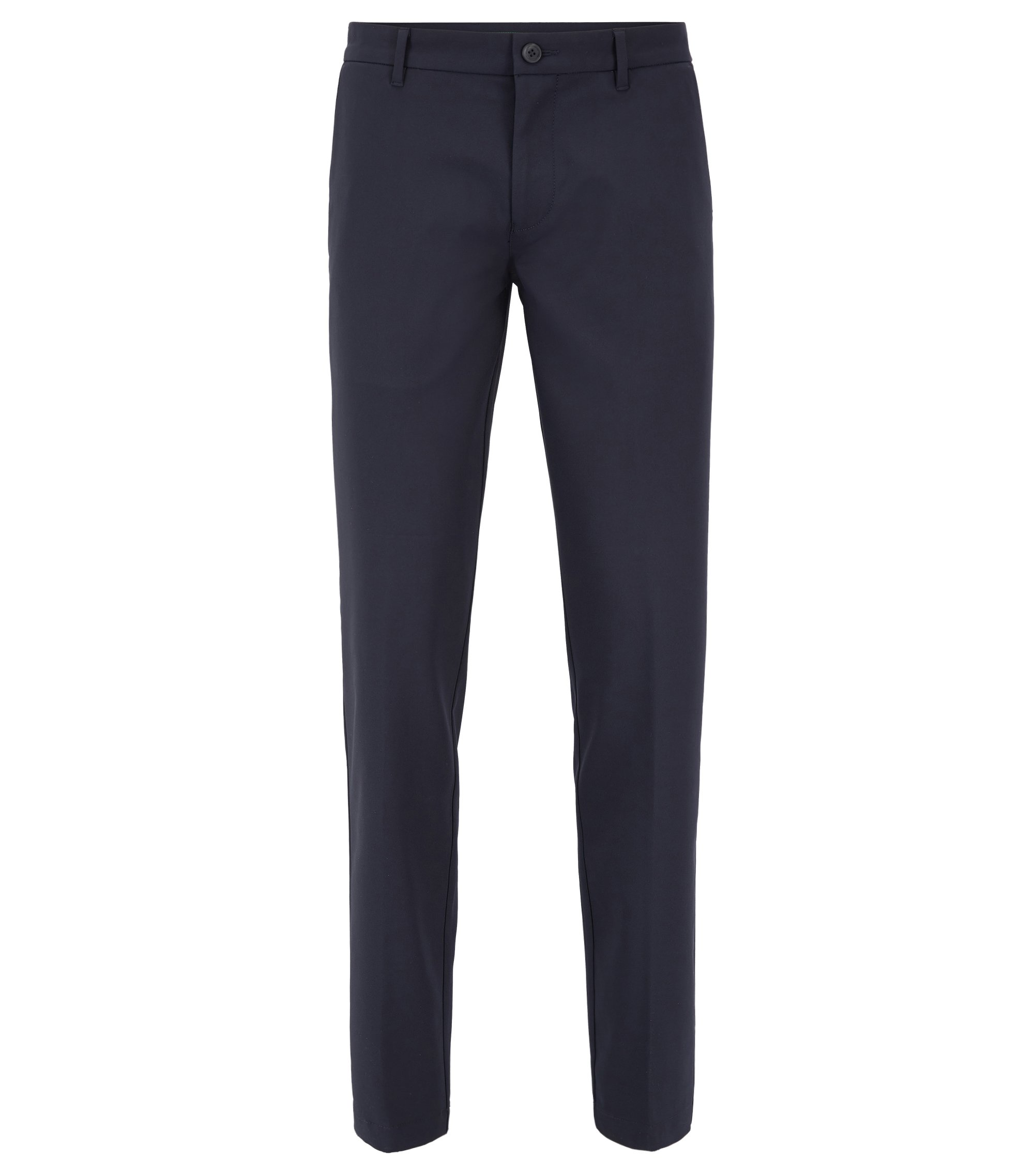 Extra-slim-fit trousers in technical fabric, Dark Blue