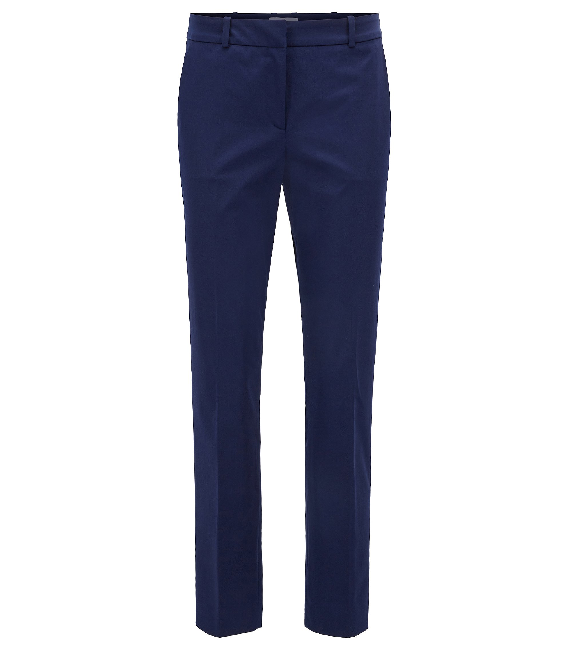 Pantalon raccourci Relaxed Fit en coton stretch, Bleu