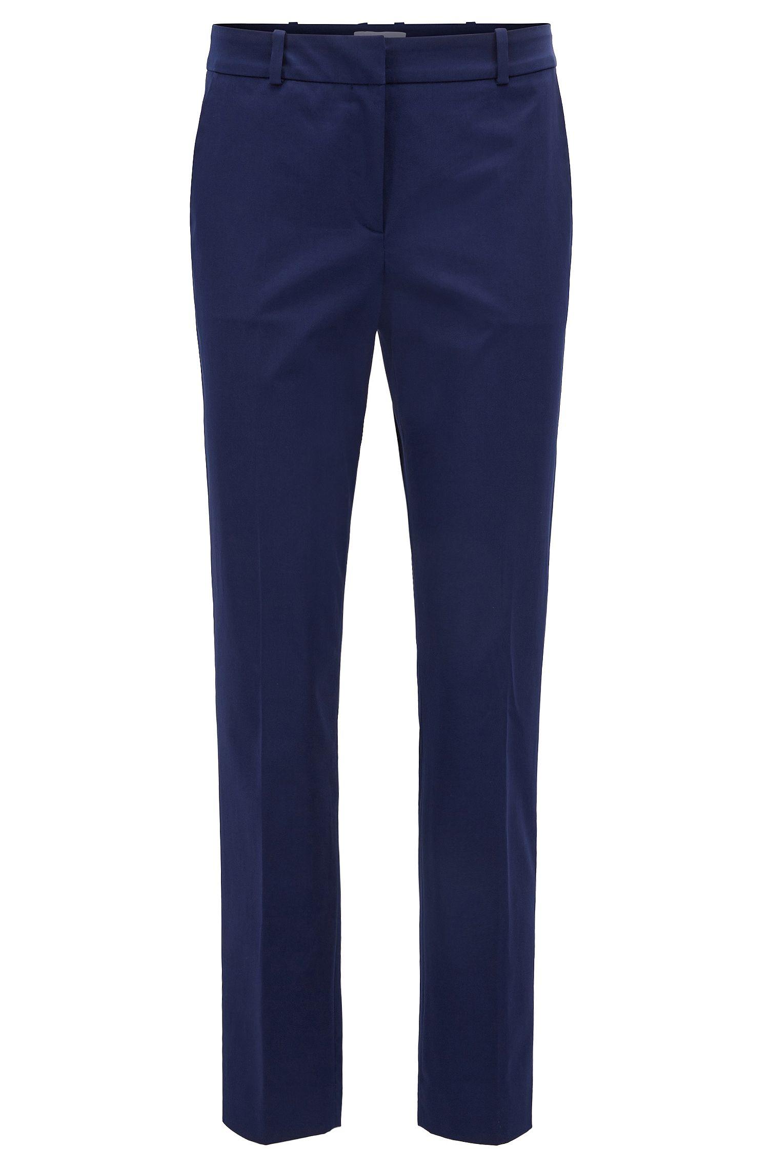 Pantalones tobilleros relaxed fit en algodón elástico