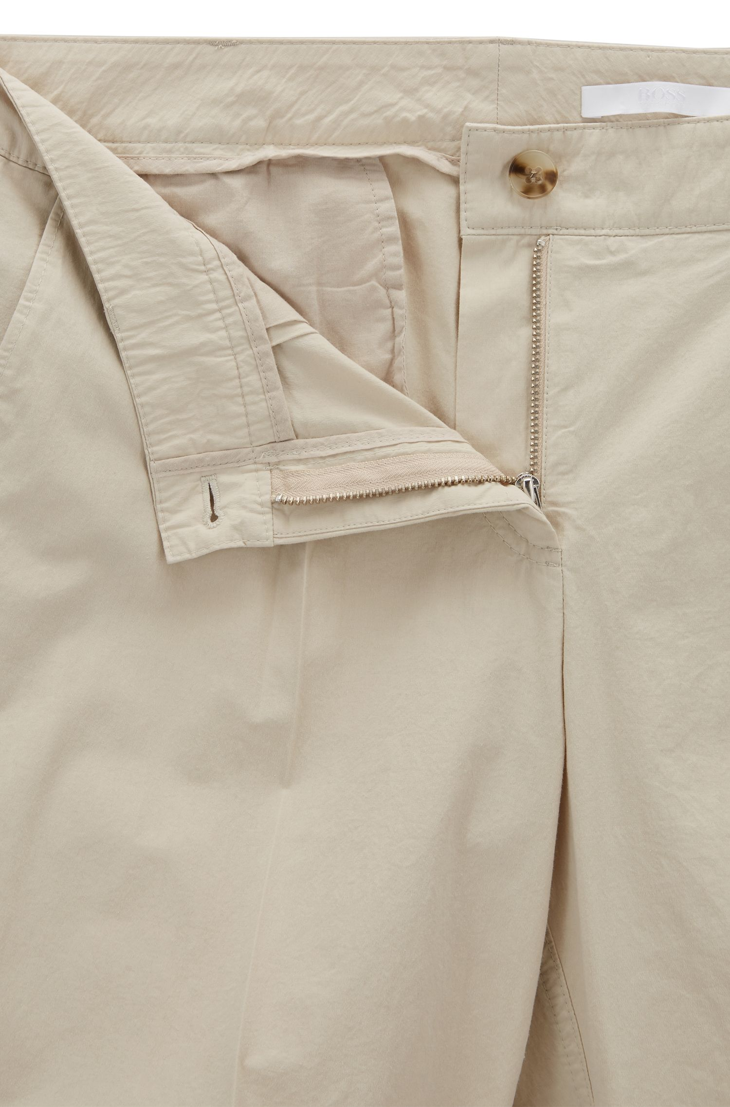 Pantalon raccourci en coton mélangé