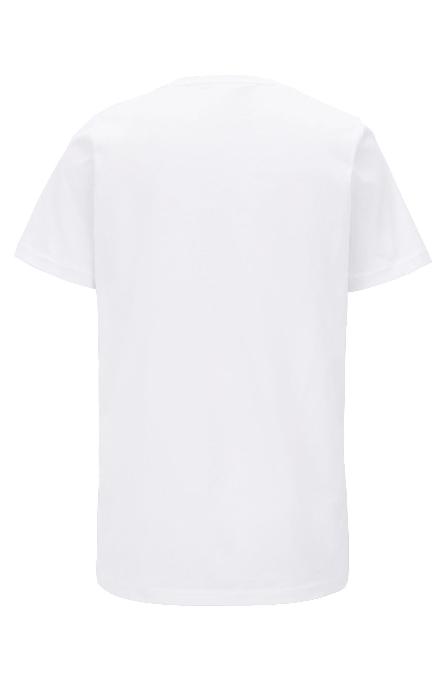 T-Shirt aus merzerisierter Baumwolle mit Logo-Print