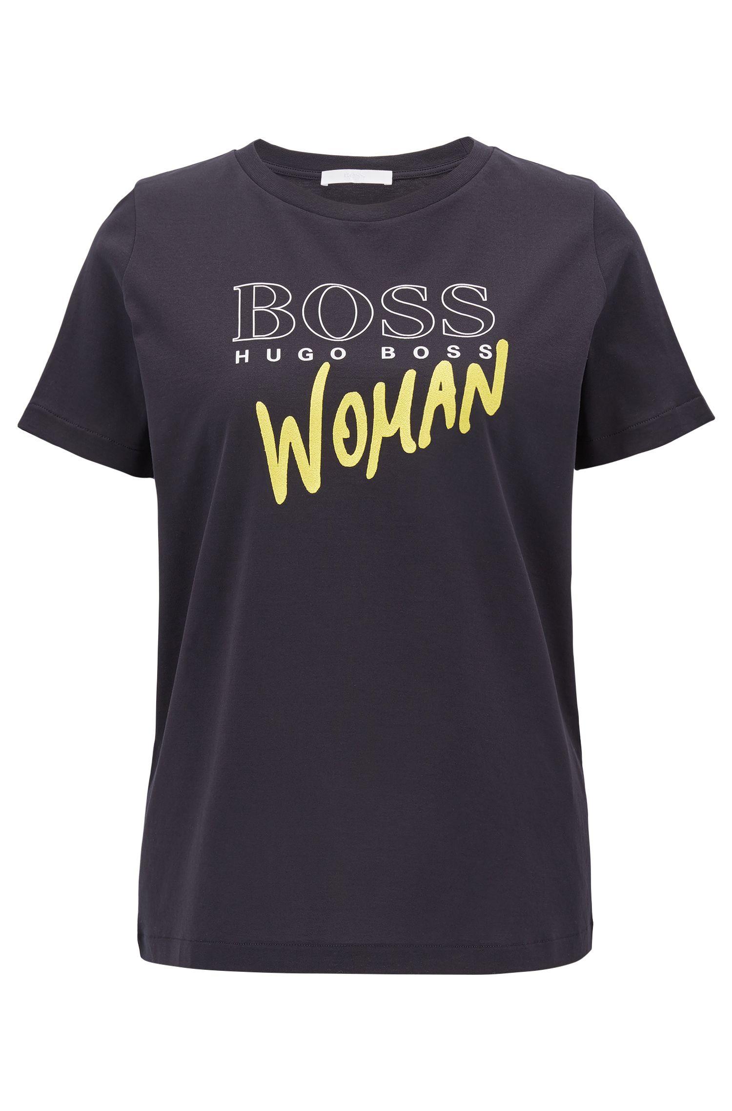 T-shirt à logo en coton mercerisé