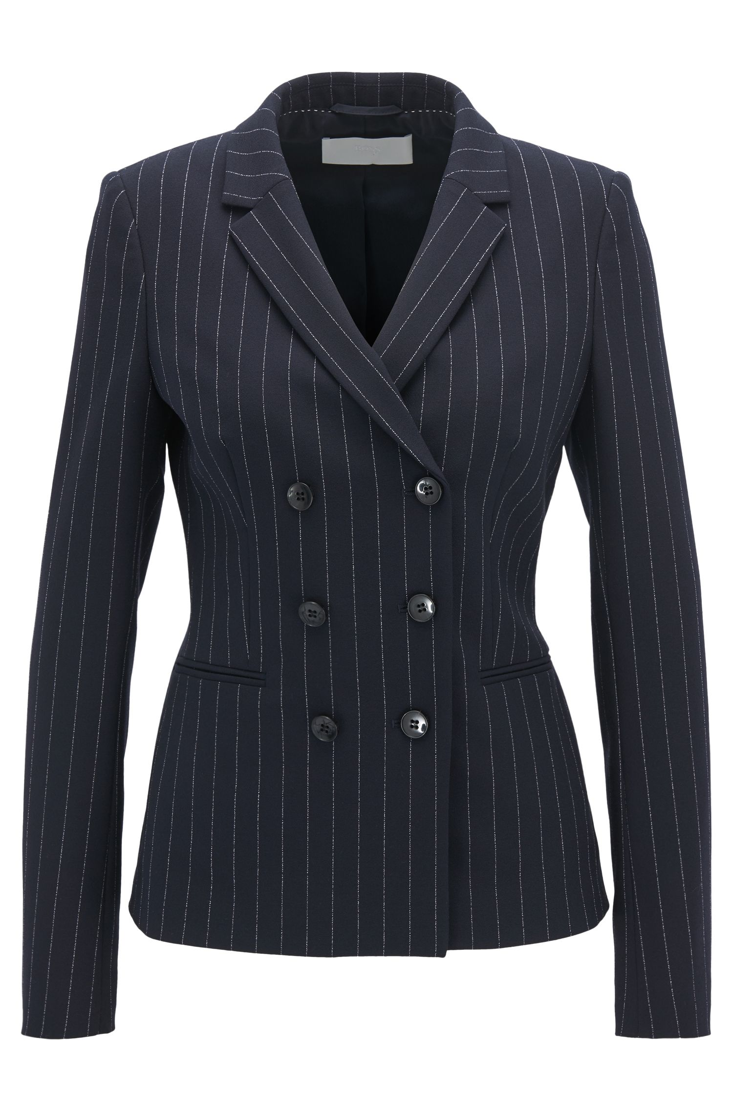 Regular-fit blazer met twee rijen knopen