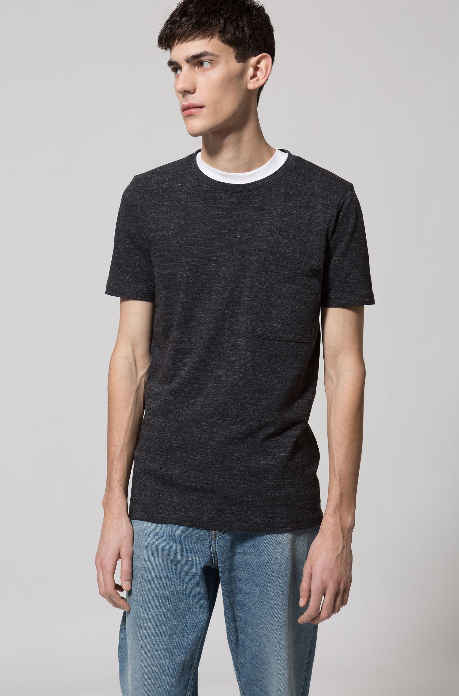 T-Shirt aus melierter Baumwolle