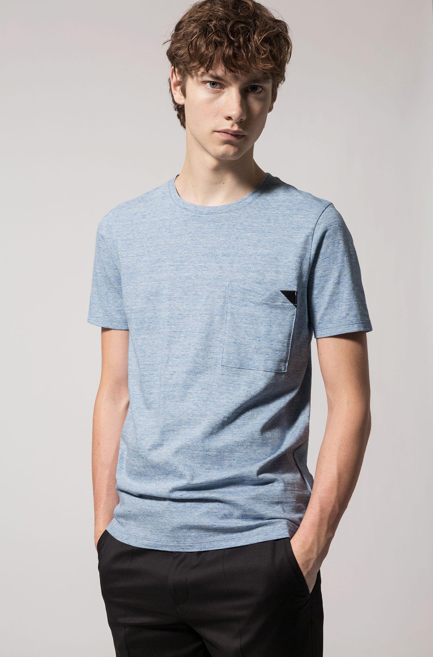 T-shirt à manches courtes en coton chiné