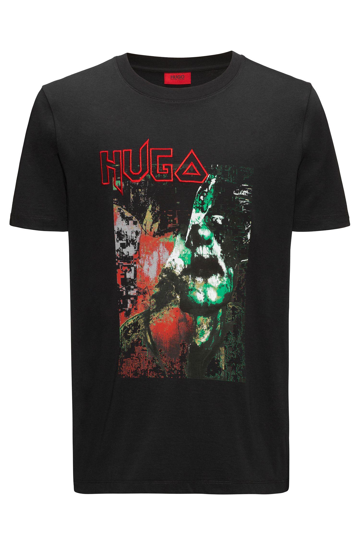 T-Shirt aus Baumwolle mit markantem Print
