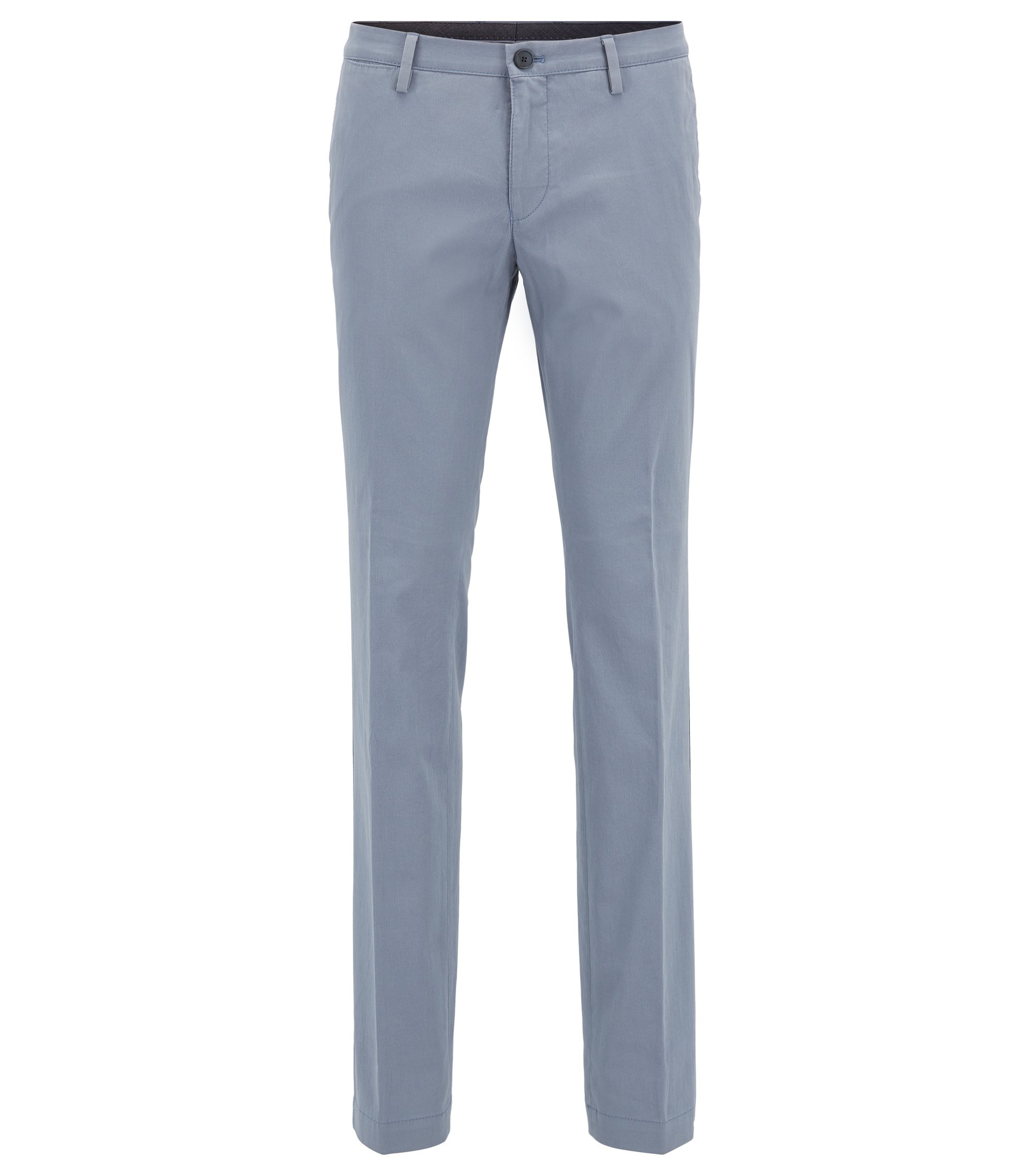 Chino Slim Fit en coton stretch, Gris chiné