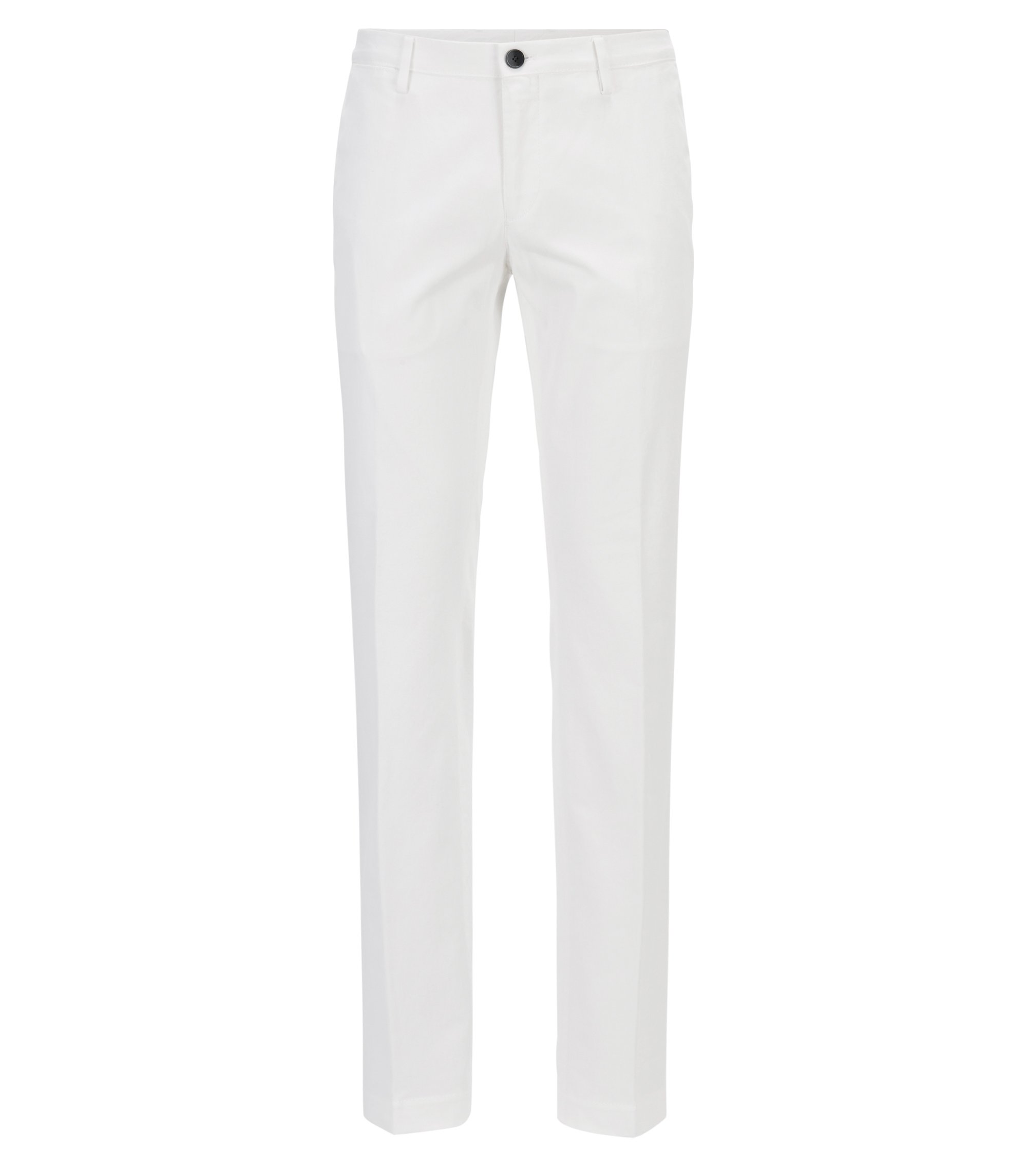 Chino Slim Fit en coton stretch, Blanc