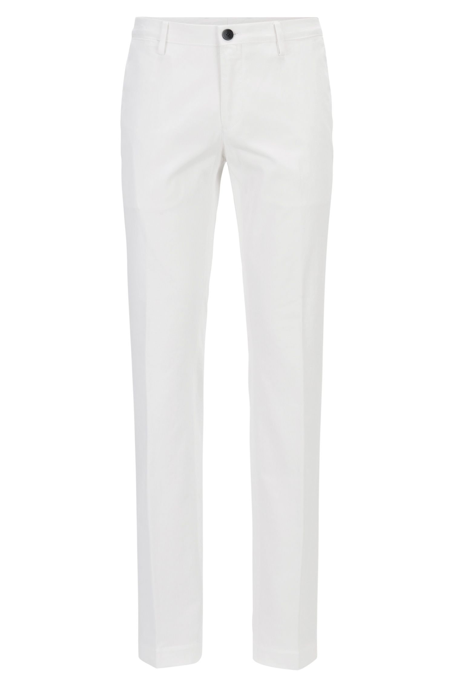 Slim-Fit Chino aus Stretch-Baumwolle, Weiß