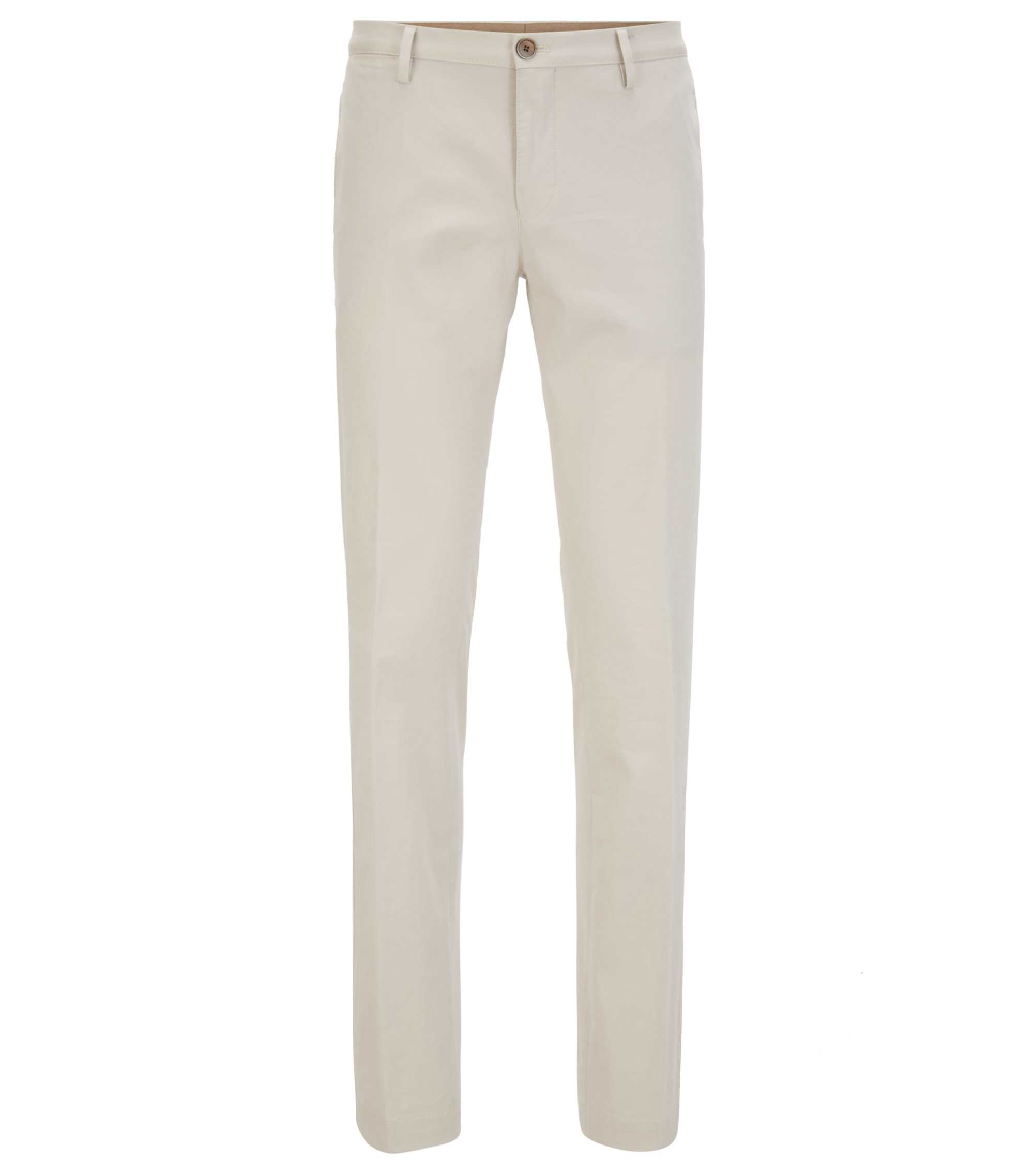 Slim-fit chino van stretchkatoen, Naturel
