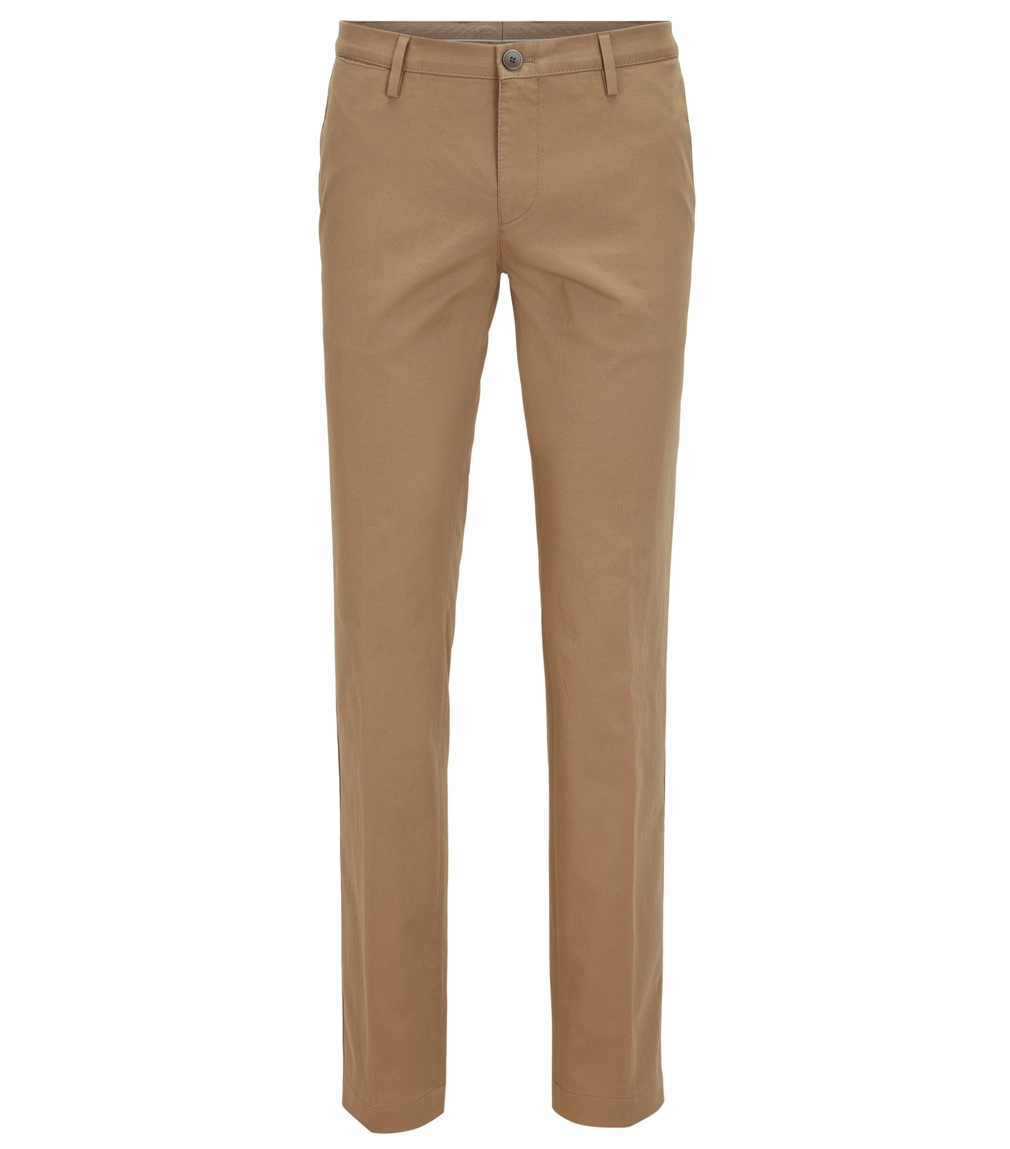 Chino Slim Fit en coton stretch, Beige