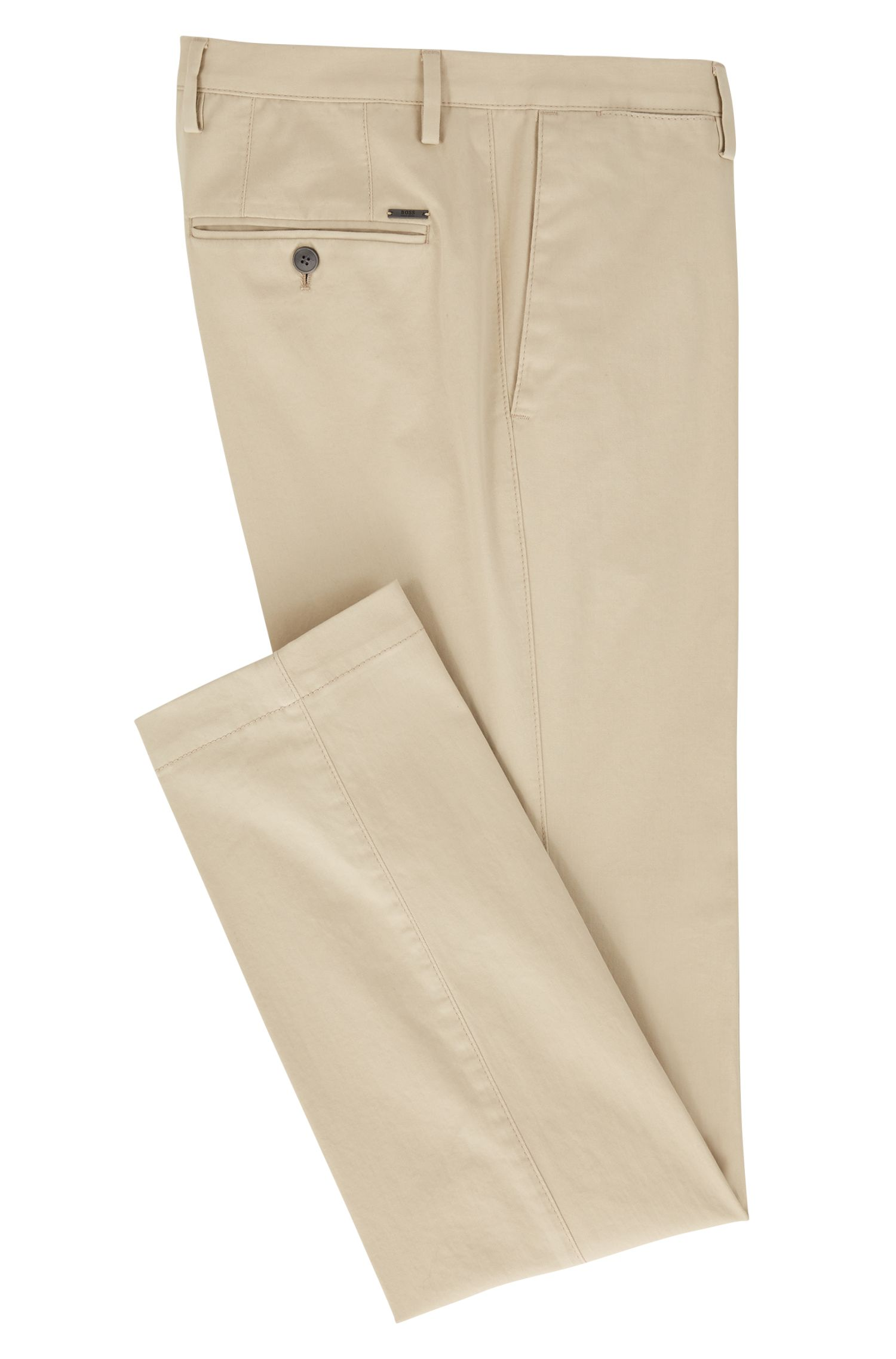 Slim-Fit Chino aus Stretch-Baumwolle, Hellbeige