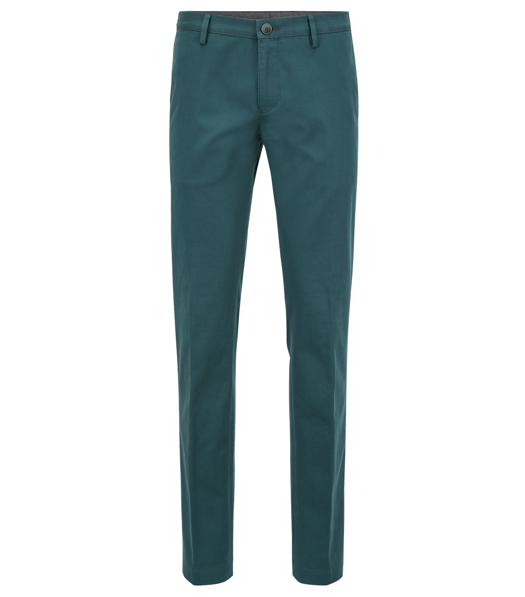 Chino Slim Fit en coton stretch, Vert sombre