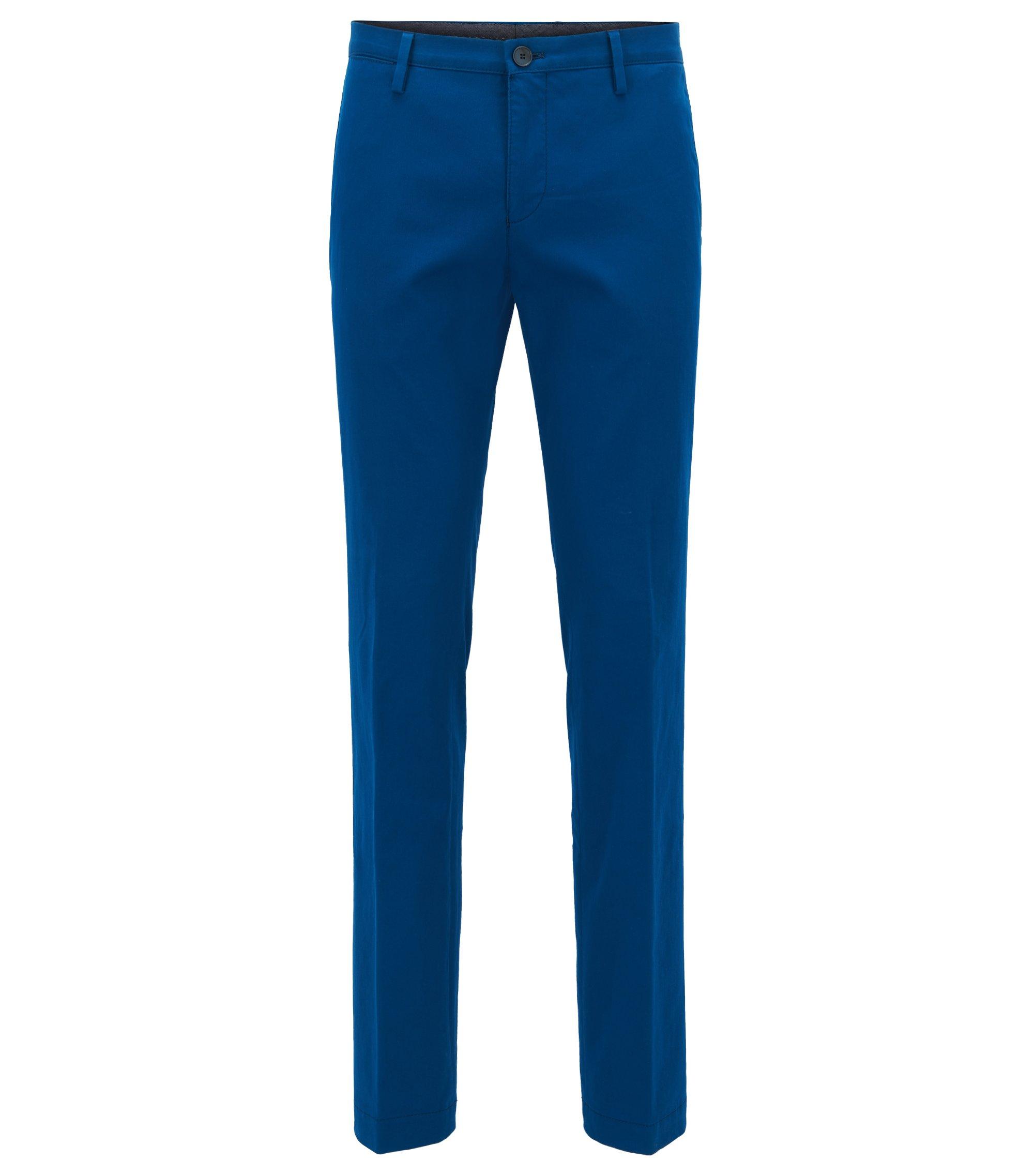 Chino slim fit in cotone elasticizzato, Blu