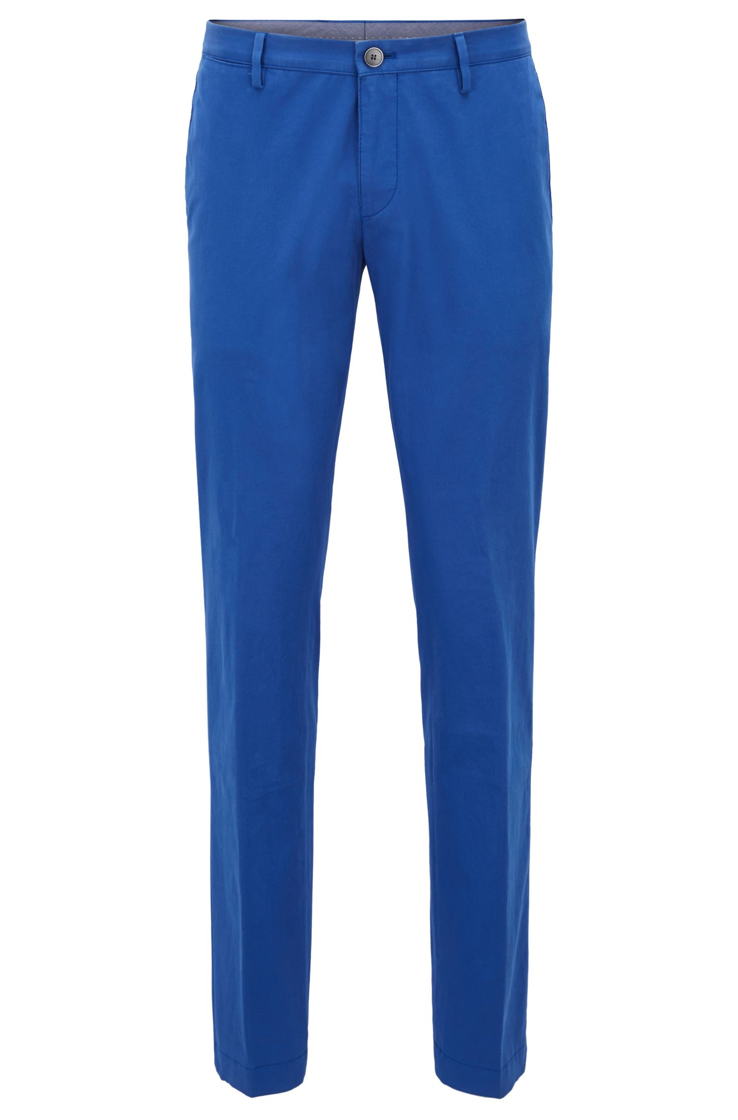 Chino Slim Fit en coton stretch, Bleu vif
