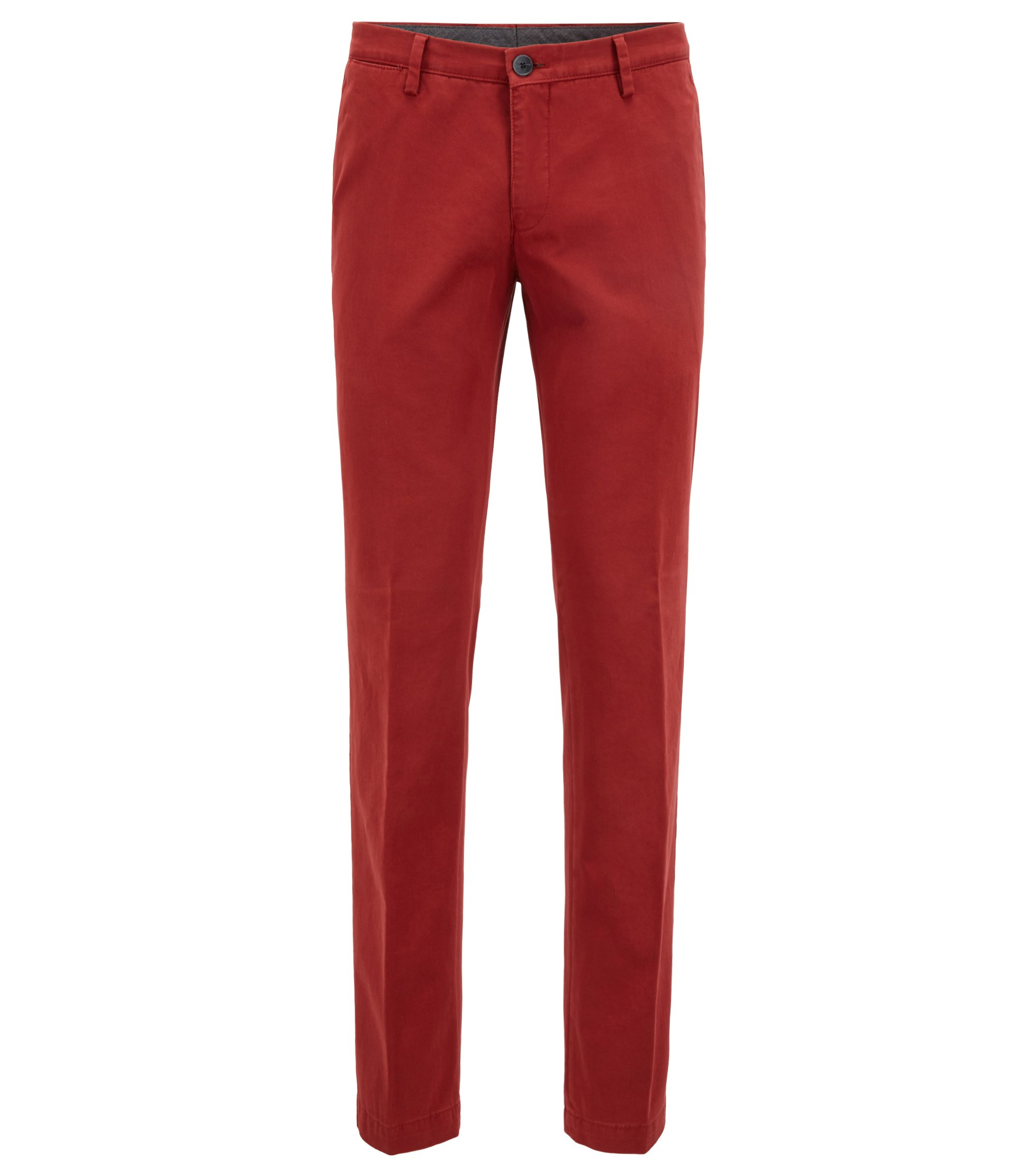 Slim-fit chino van stretchkatoen, Rood
