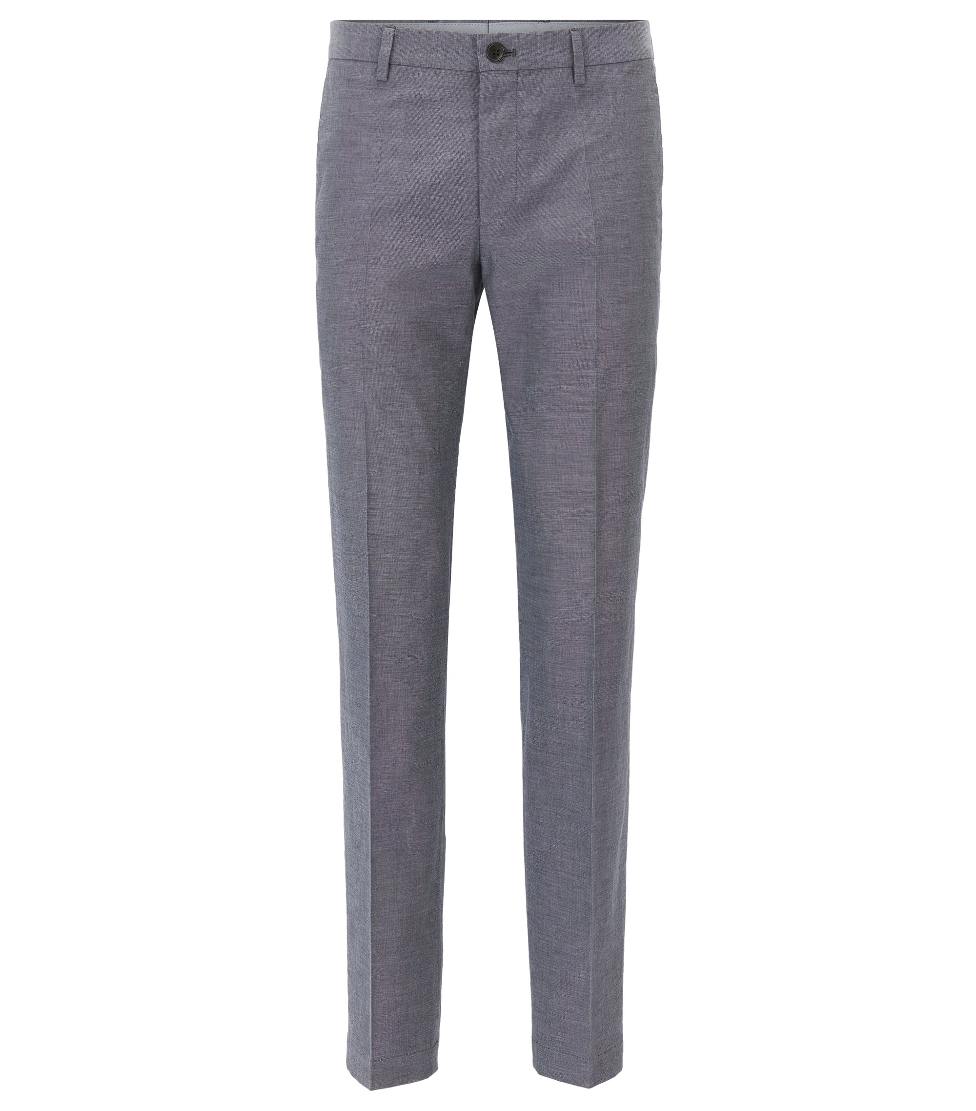 HUGO BOSS Pantalon Slim Fit en coton mélangé chiné