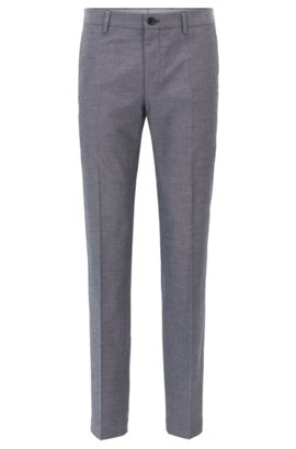 HUGO BOSS Pantalon Slim Fit en coton mélangé chiné lFf2ASN2