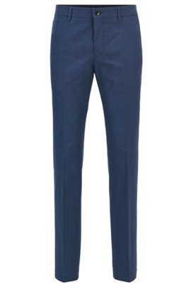 HUGO BOSS Pantalon Slim Fit en pur coton 9gMuK88jbv