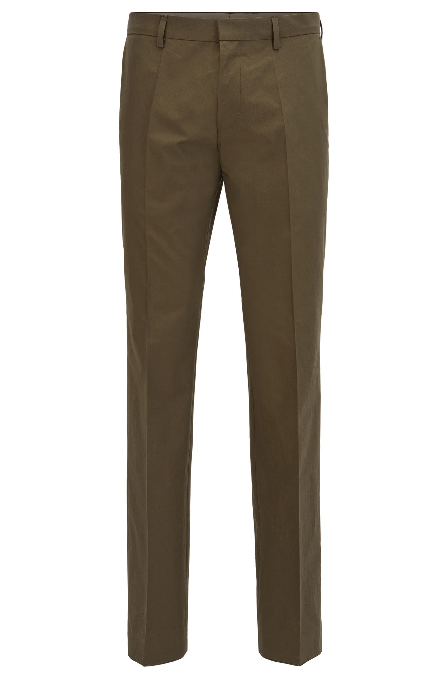 Chinos in paper-touch cotton poplin