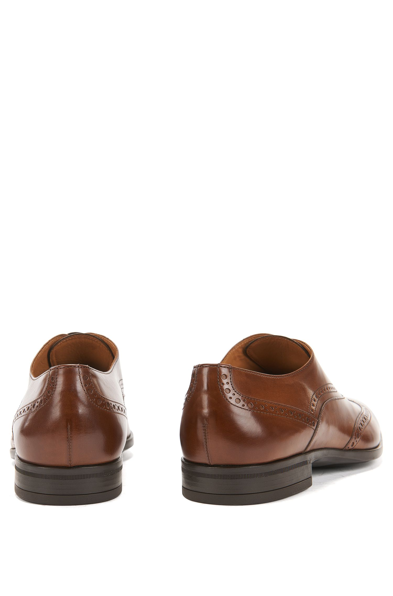 Oxford-Schuhe aus poliertem Leder mit Budapester-Details