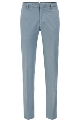 HUGO BOSS Pantalon Slim Fit en coton stretch teint en pièce l5WoMr
