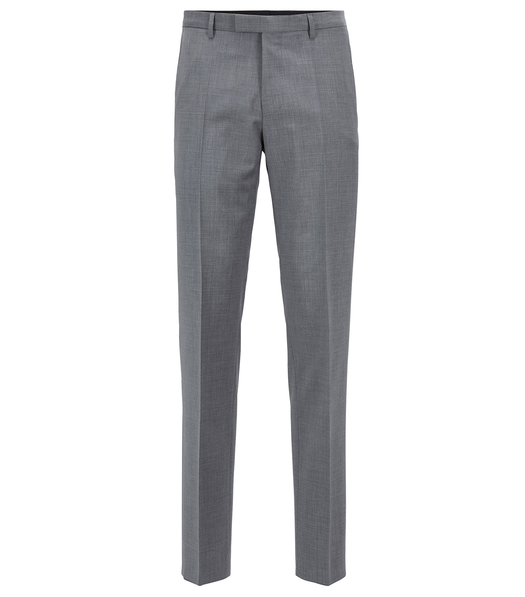Pantalon de costume Regular Fit en laine vierge, Gris