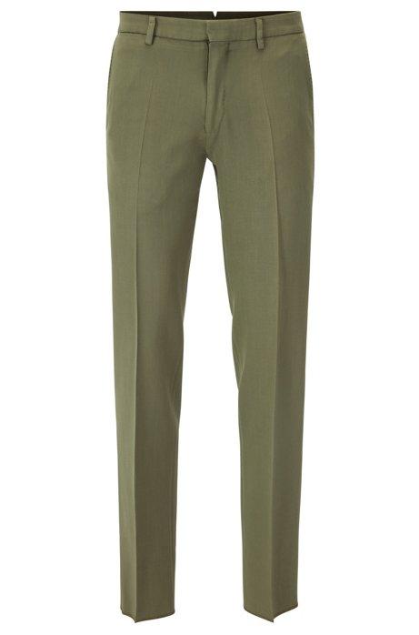Pantalon-teinte Slim Dans Le Patron De Laine Vierge o6vubns0