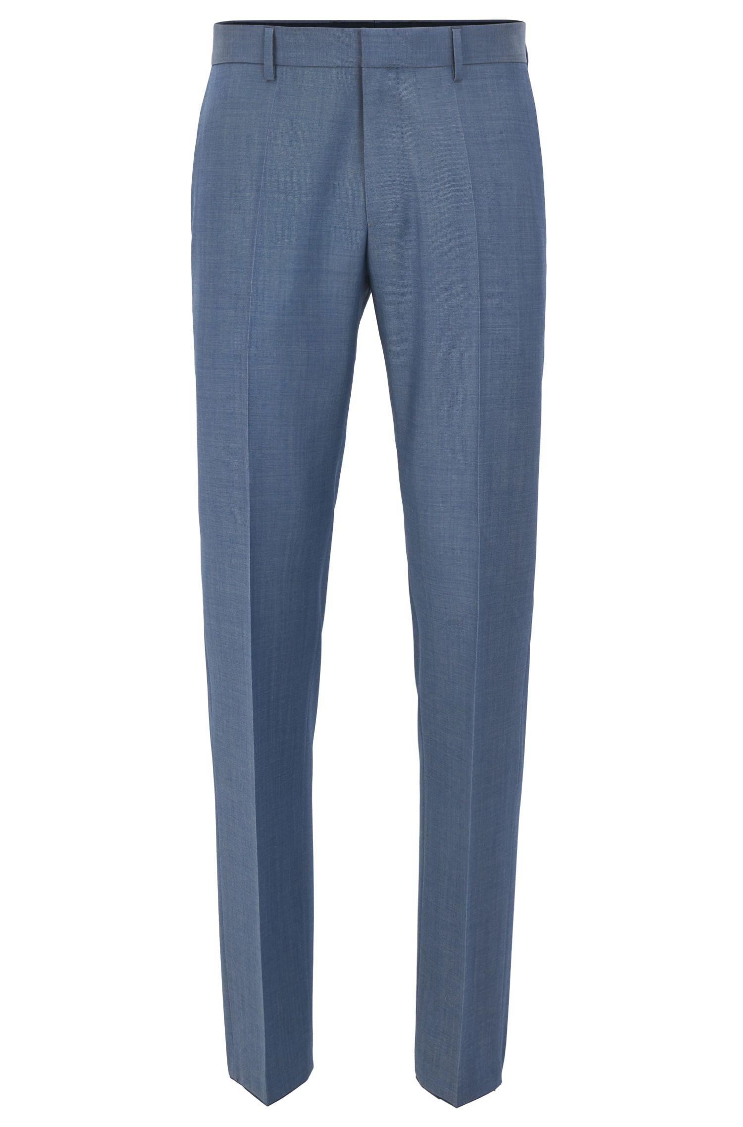 Pantalon Slim Fit en laine vierge à l'aspect mohair