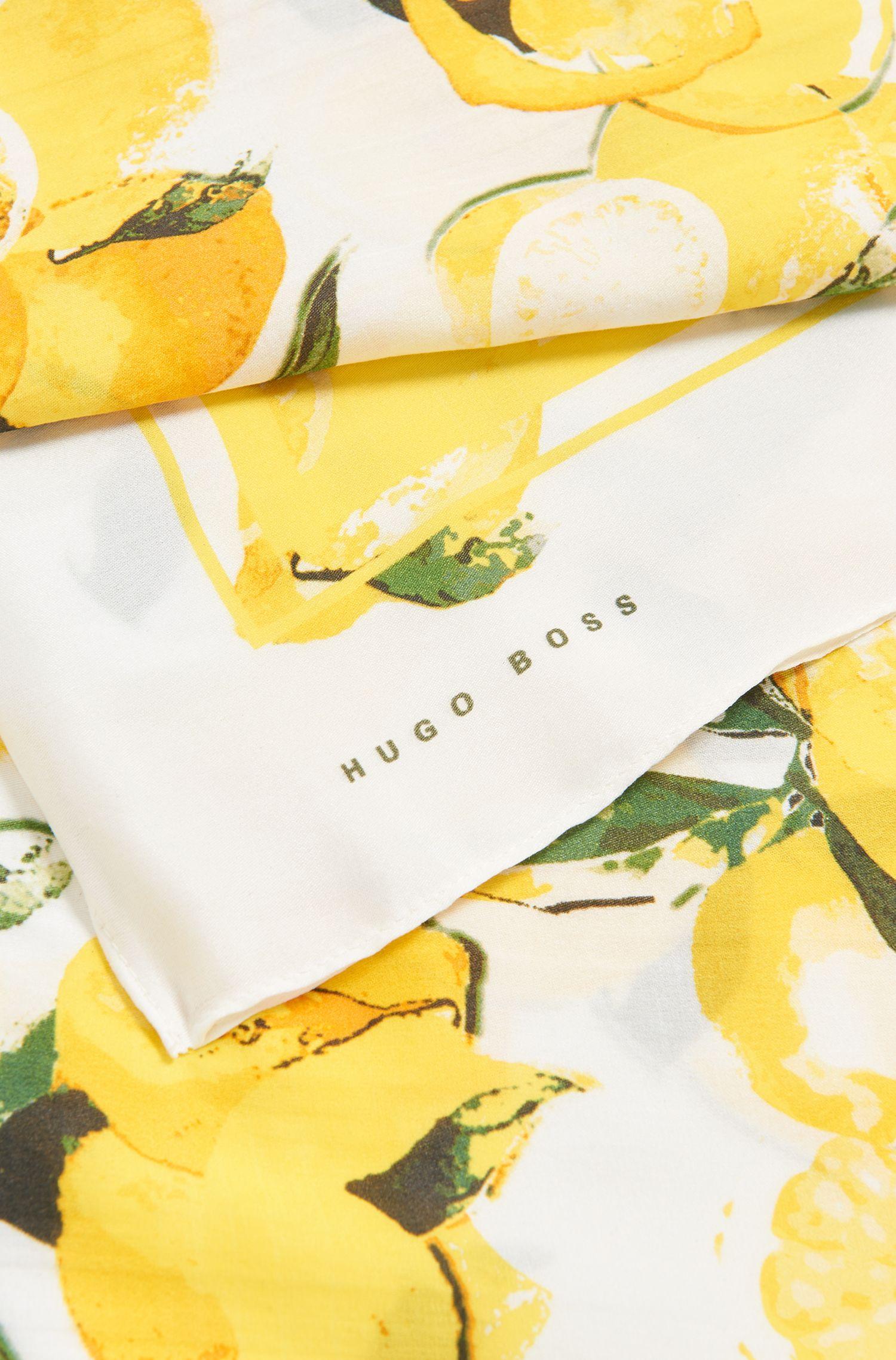 Schal aus Seiden-Mix mit Zitronen-Print