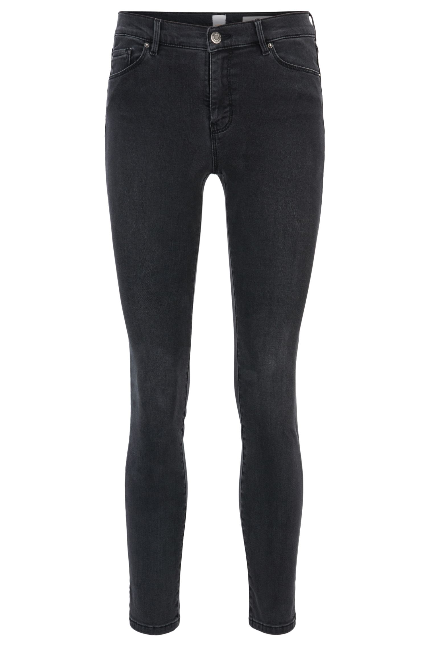 Skinny-fit cropped jeans in power-stretch denim
