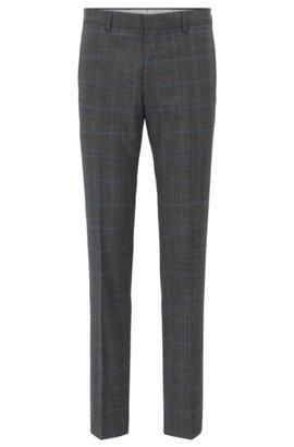 HUGO BOSS Pantalon Tapered Fit en laine vierge à bande logo oBgMn5Ebs