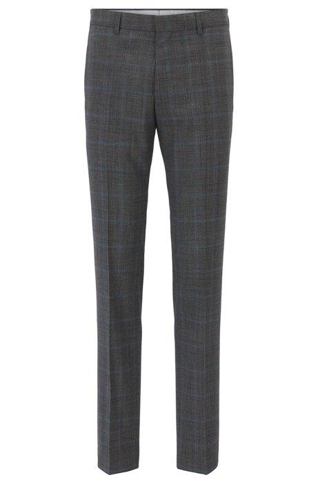 HUGO BOSS Pantalon Slim Fit en laine vierge à carreaux 0UcpXB