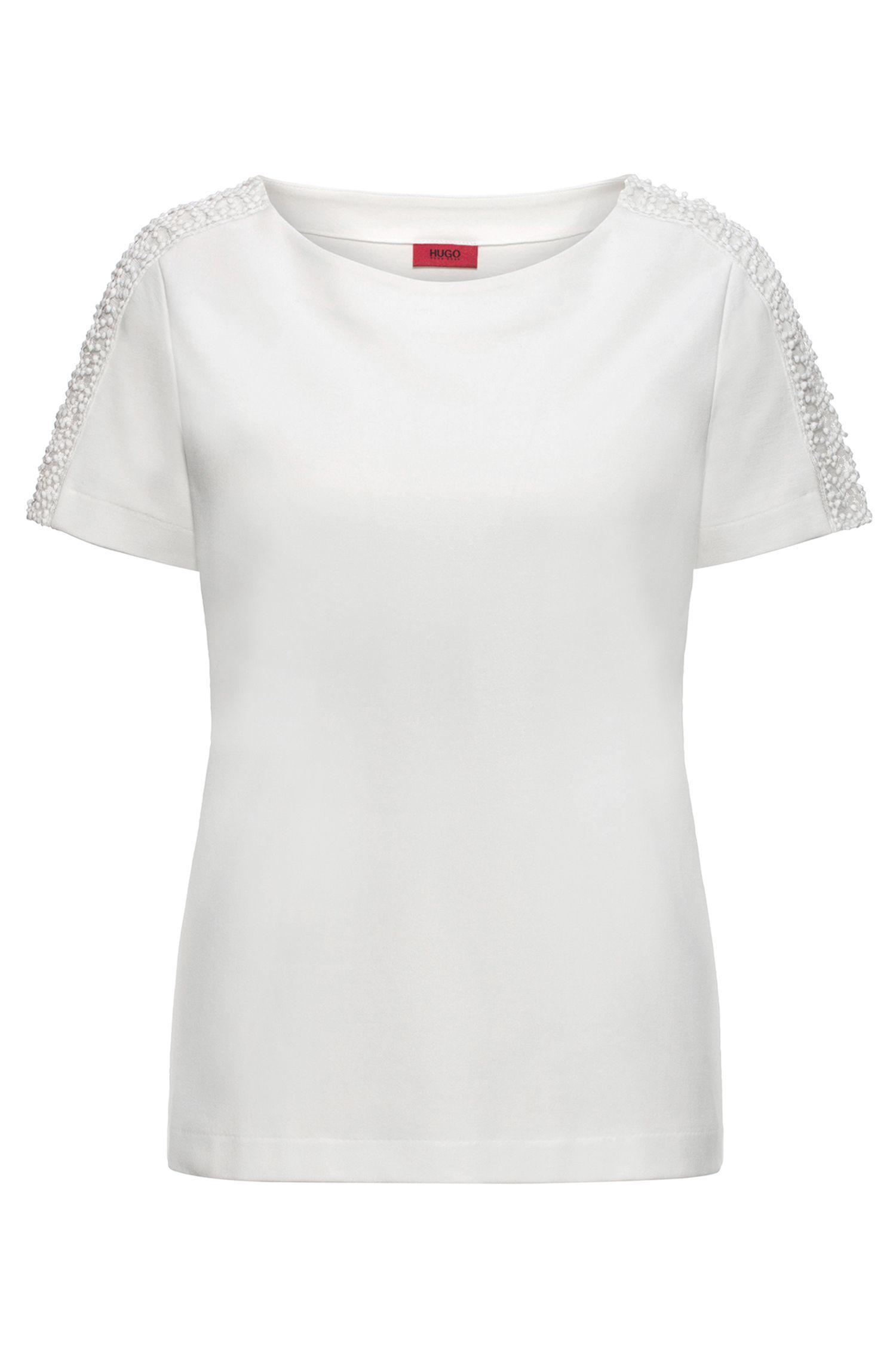 T-shirt regular fit in tessuto Ponte di Roma
