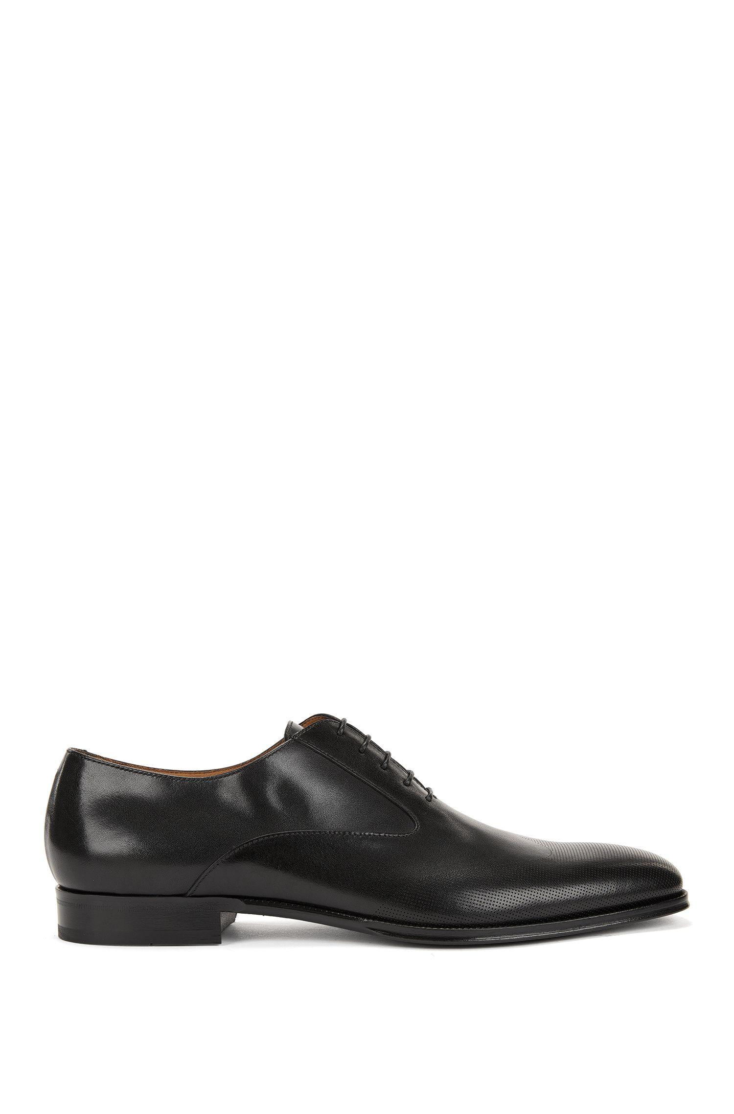 Italienische Oxford-Schuhe aus poliertem Leder