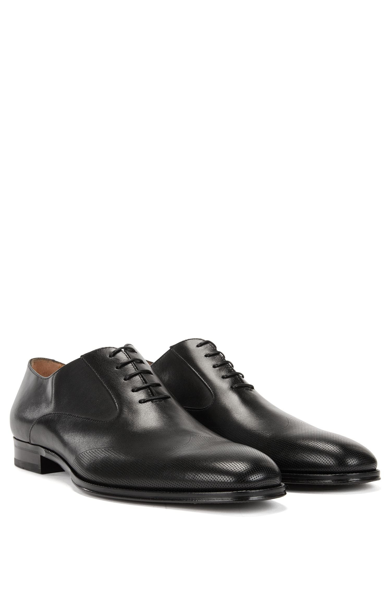 Italian-made Oxford shoes in burnished calf leather