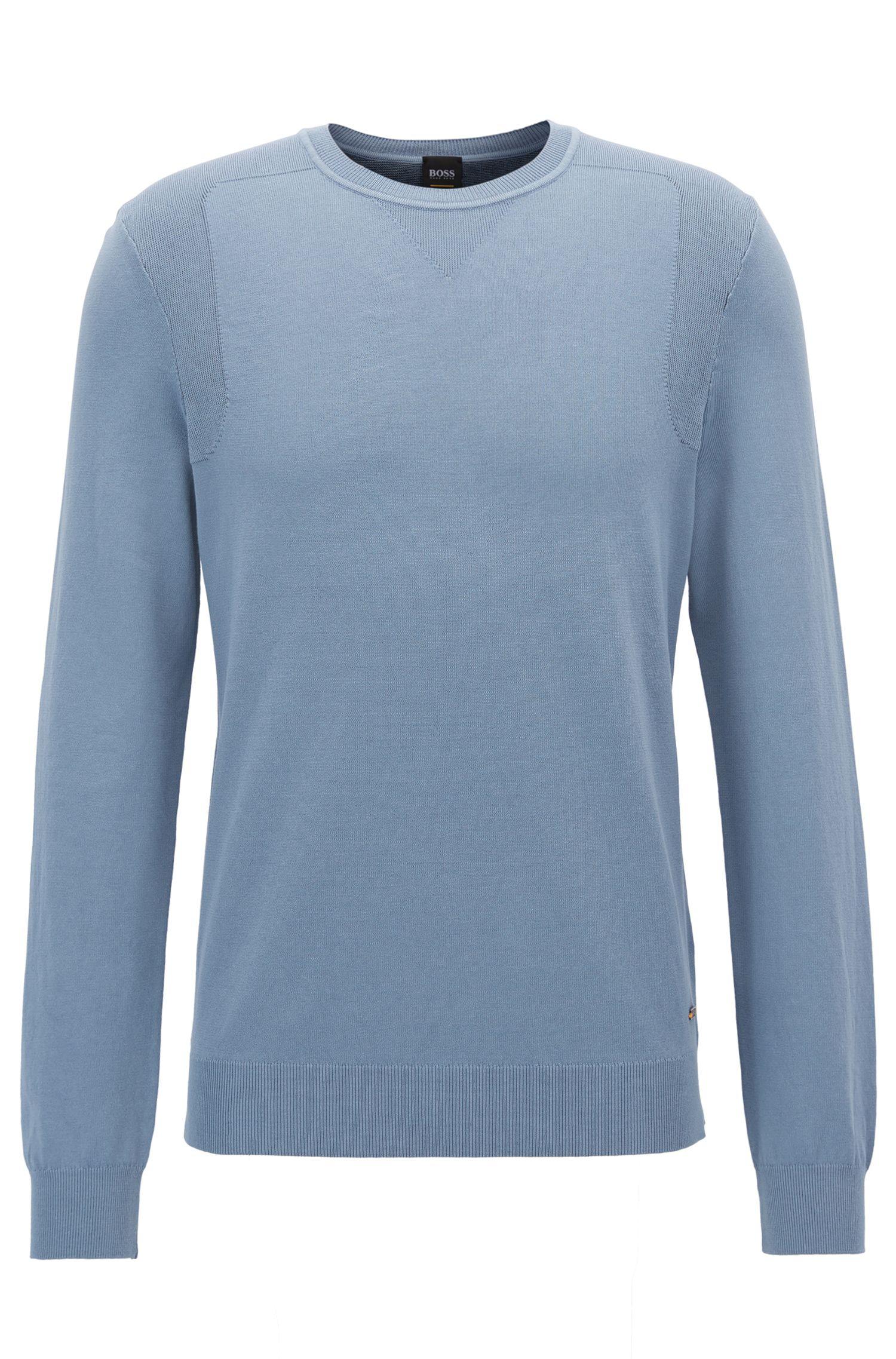 Jersey de punto de algodón teñido en prenda