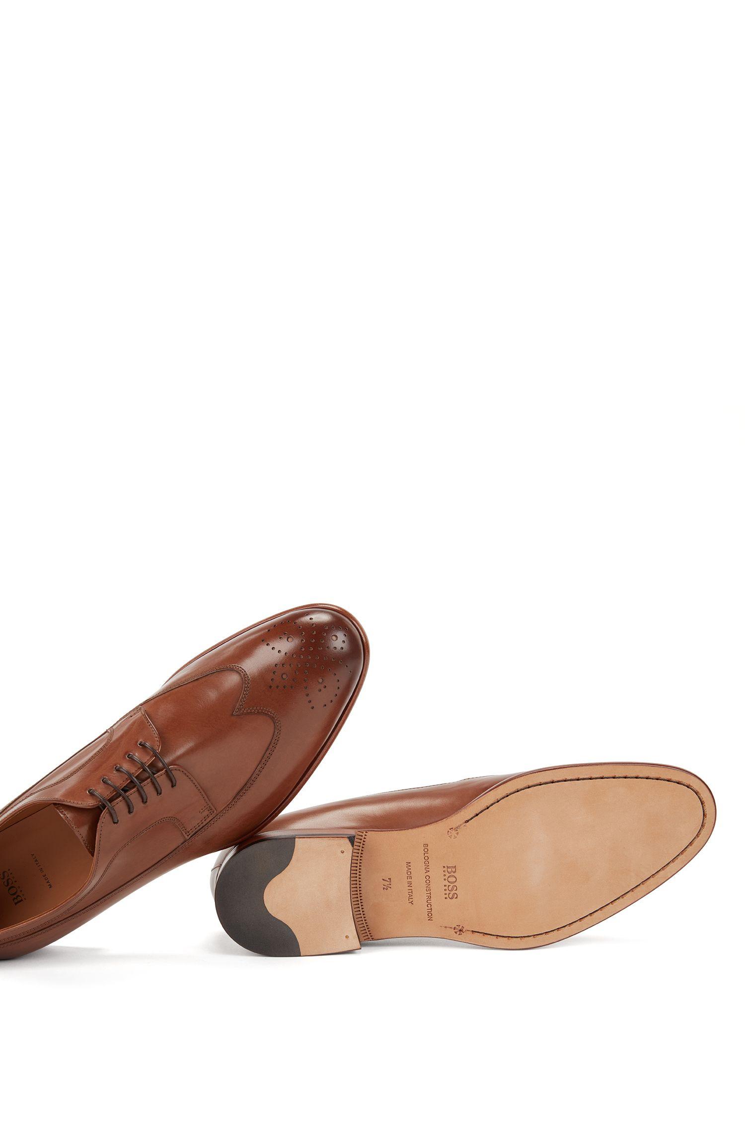 Scarpe derby in pelle con dettagli brogue