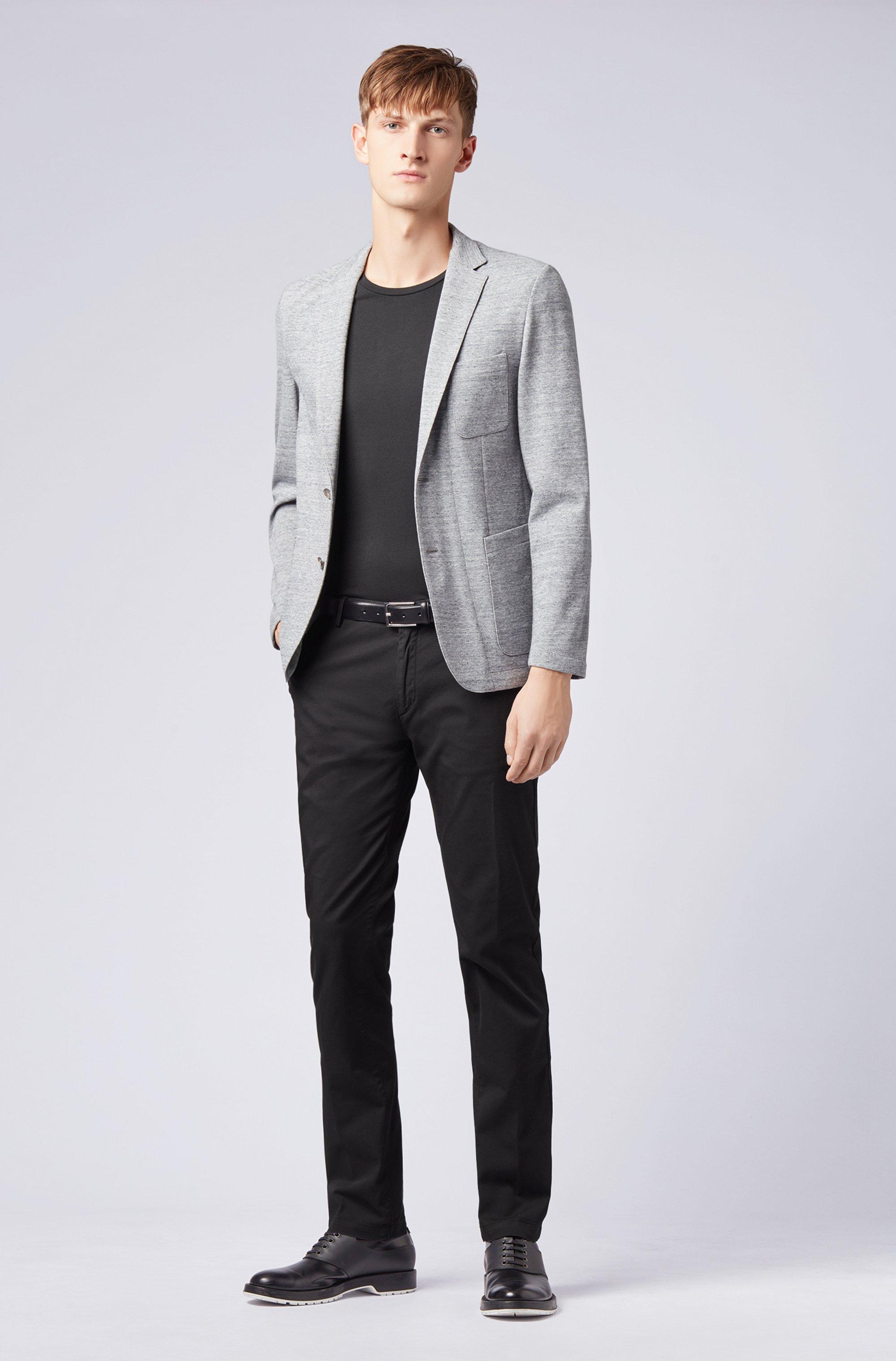 T-shirt à col ras-du-cou en jersey simple tissé-teint