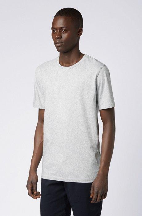T-shirt met ronde hals van garengeverfde singlejersey, Grijs