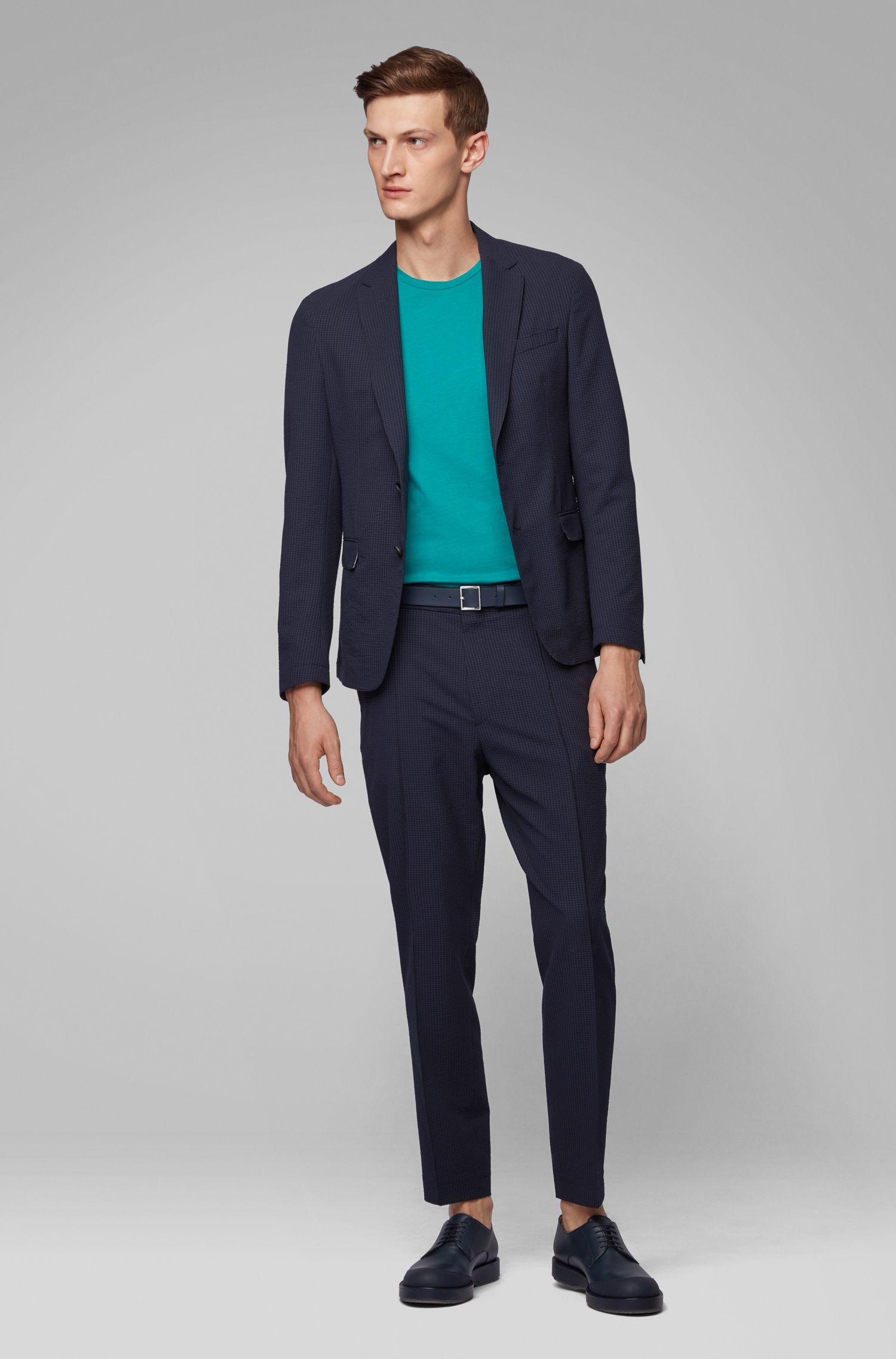 T-shirt à col ras-du-cou en jersey simple tissé-teint, Vert