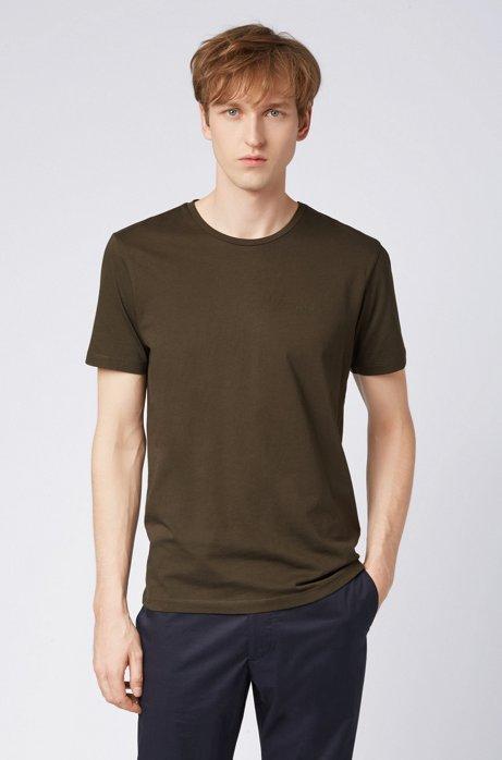 T-shirt met ronde hals van garengeverfde singlejersey, Groen