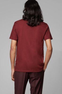 À Teint Tissé Du En Shirt Cou Jersey T Simple Col Ras LSpzGqUMV