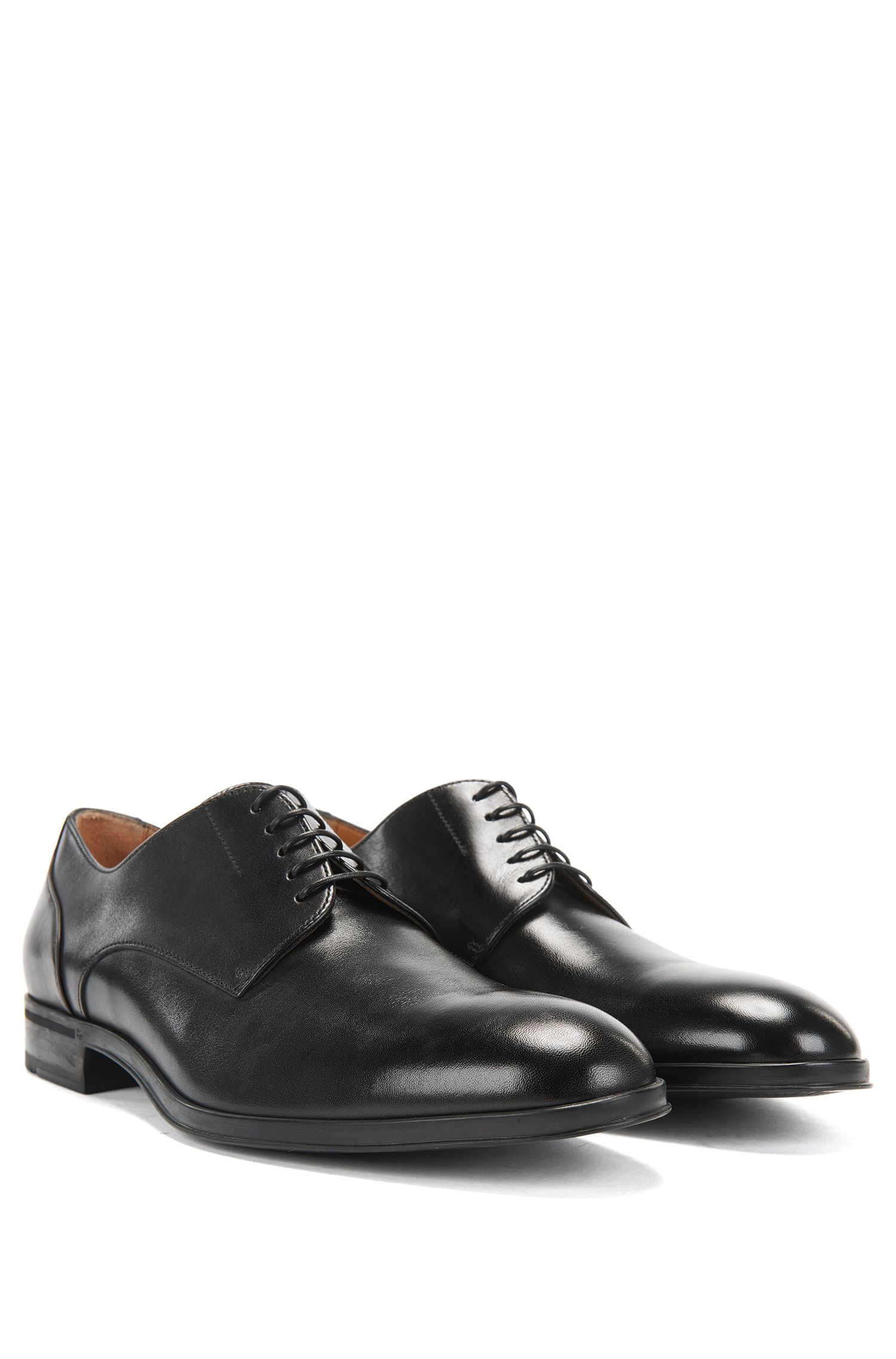 Italian-made Derby shoes in smooth calf leather BOSS