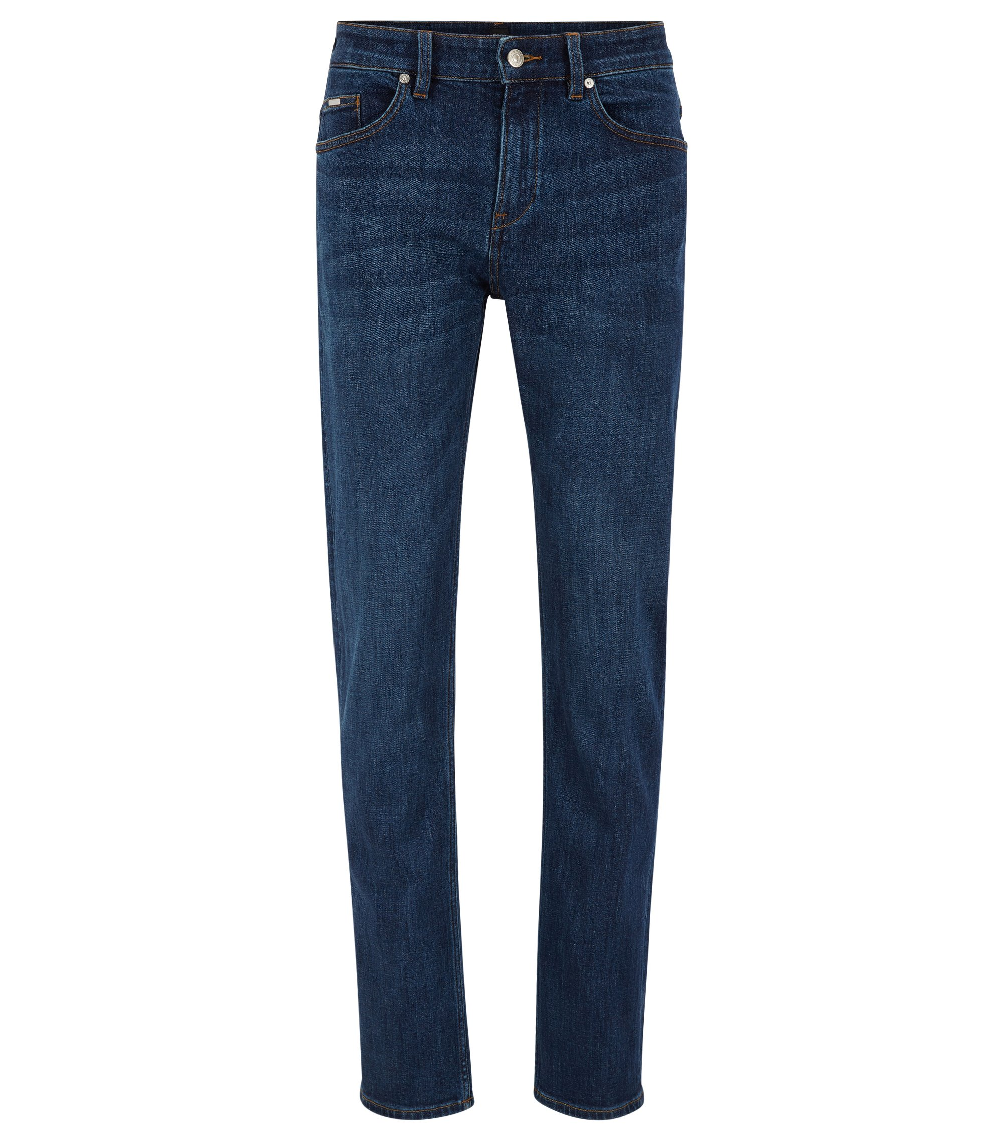 Jean Slim Fit en denim stretch confortable , Bleu foncé