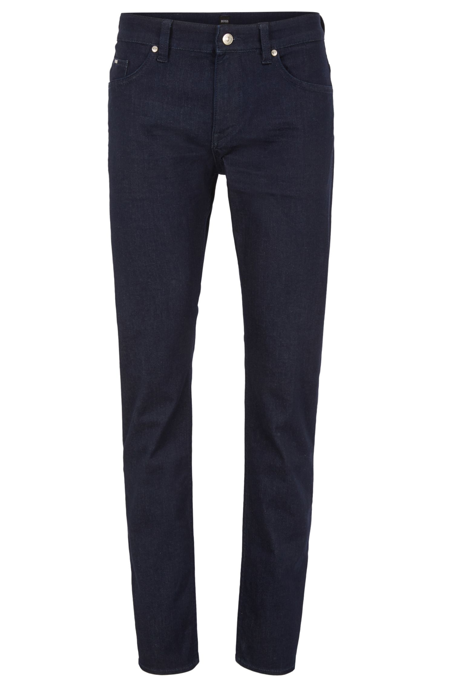 Jean Slim Fit en denim stretch confortable bleu foncé